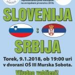 Novinarske akreditacije za rokometno tekmo Slovenija-Srbija